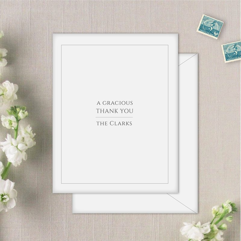 Coronado Thank You Cards and Envelopes