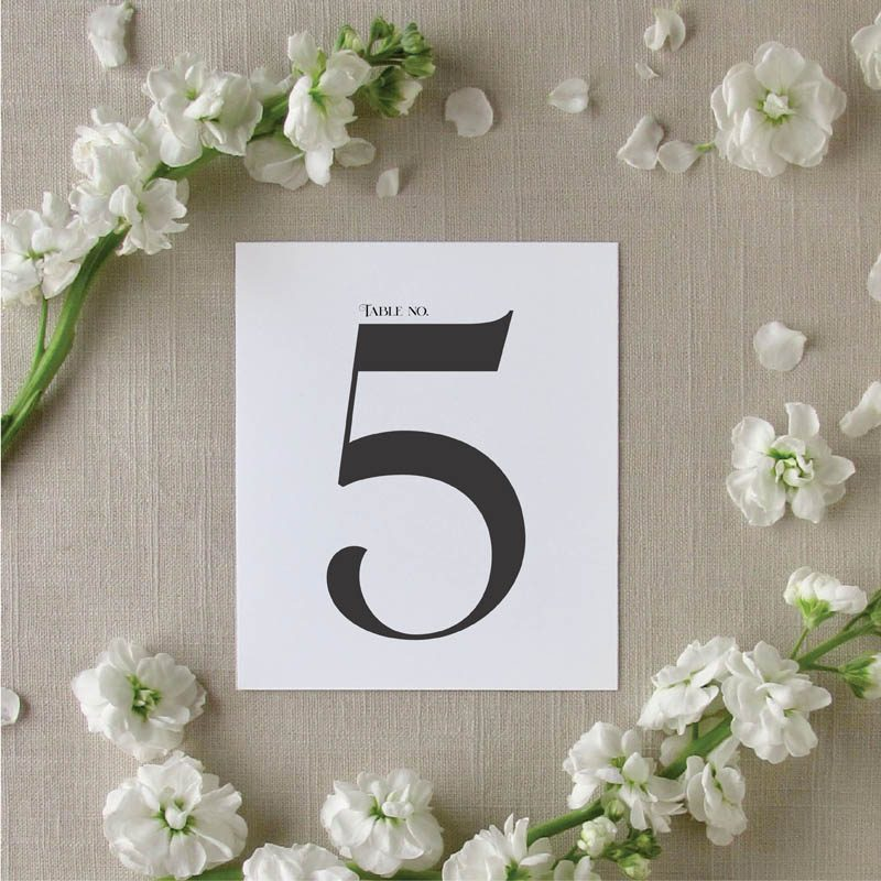 Modern Amore Table Number
