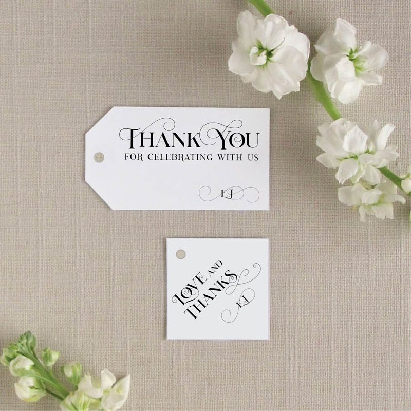 Square and Rectangle Tags for wedding favors