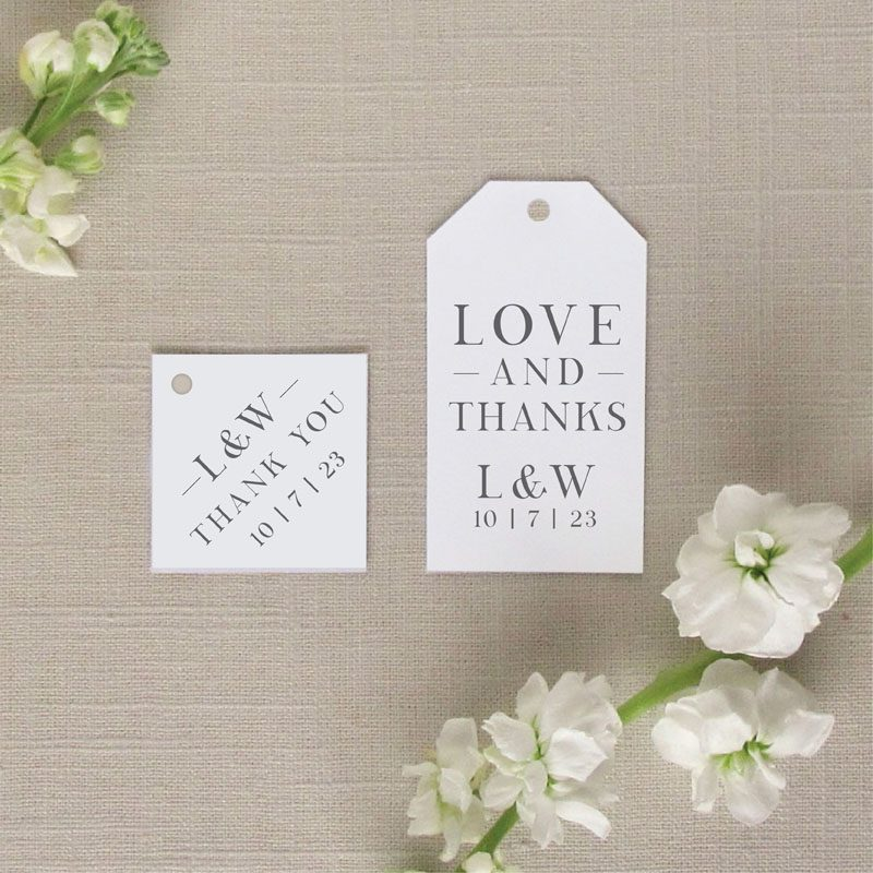 Charleston Wedding Tags