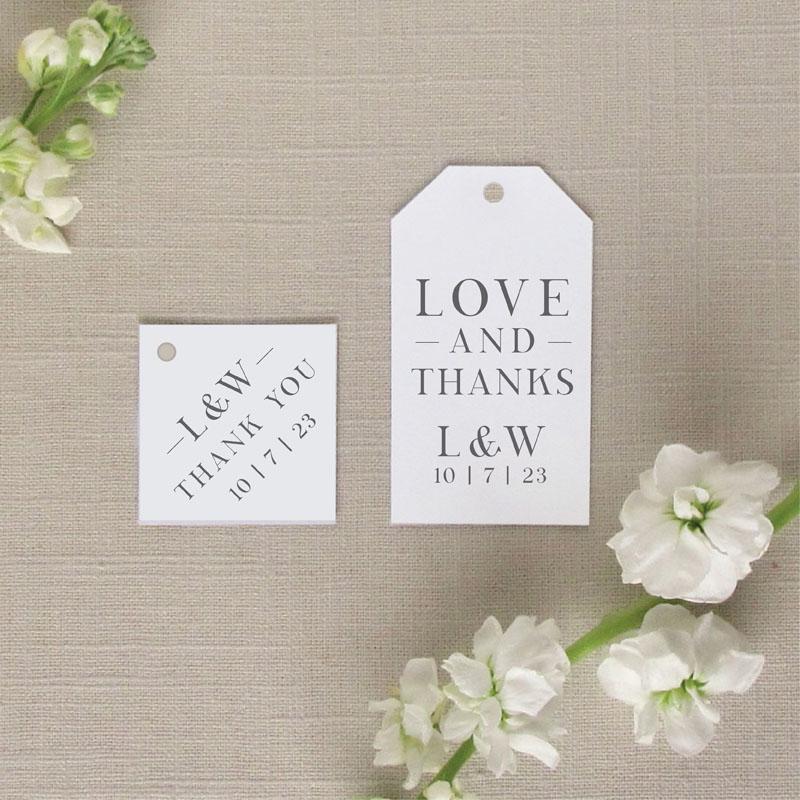 Charleston Wedding Tags