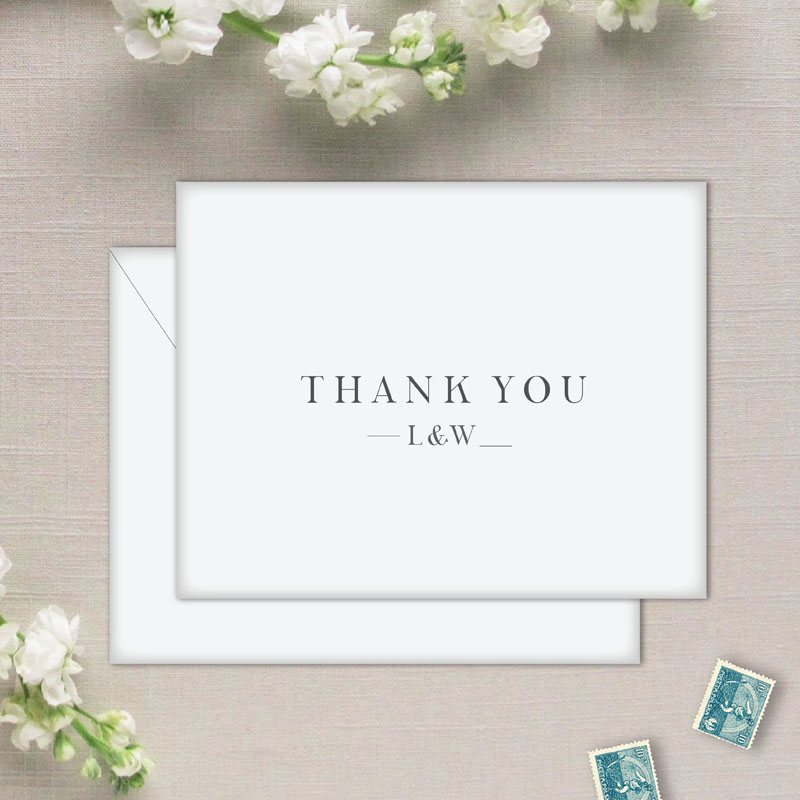 Charleston Wedding Thank You Cards