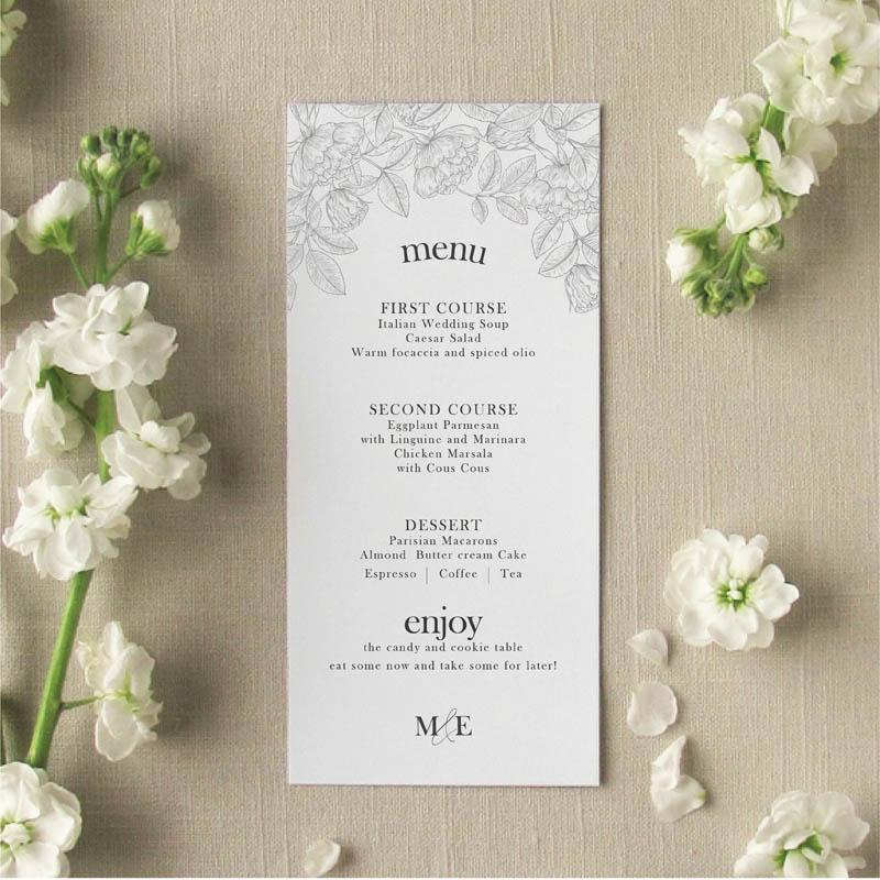 garden menu