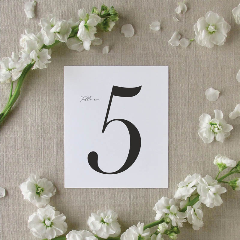Classic Garden Table Number