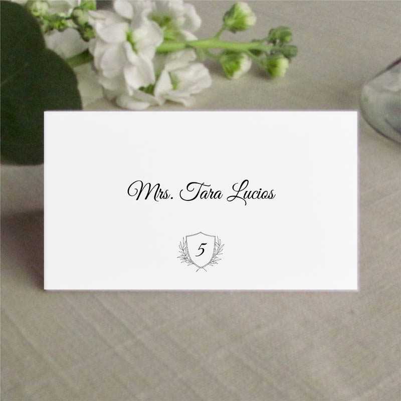 Grace Place Card for Wedding Reception