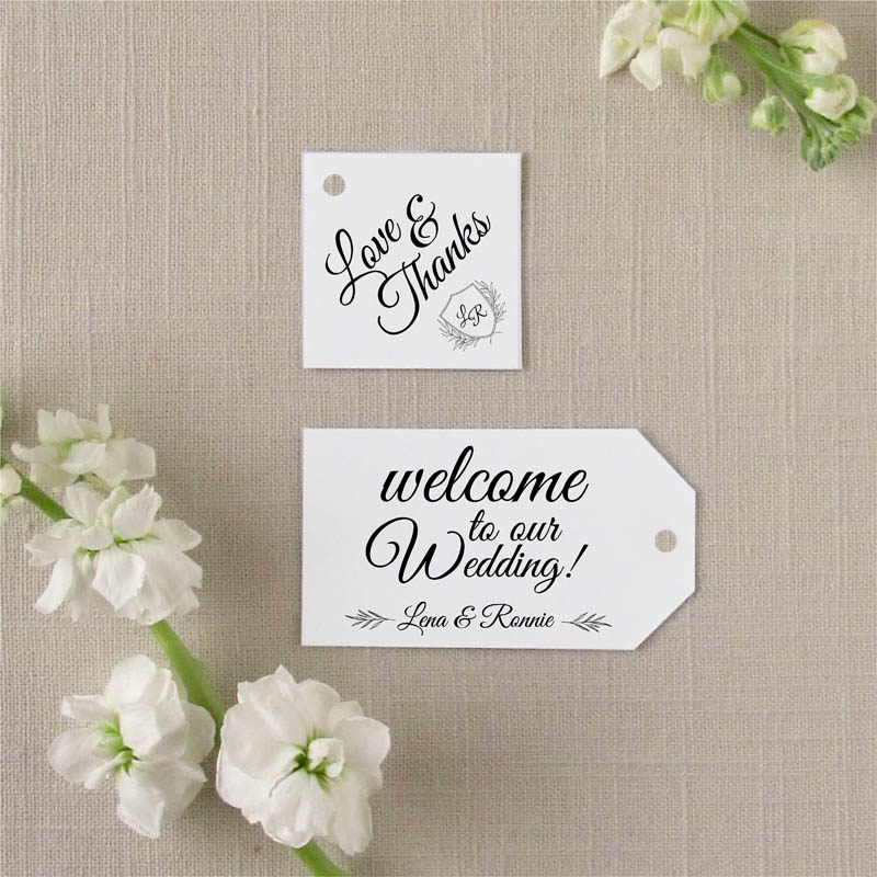 Grace monogram favor tags