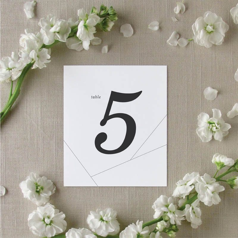 Off the Grid Geometric Table Numbers