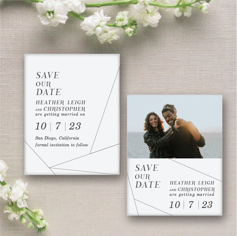 Off the grid wedding save the date