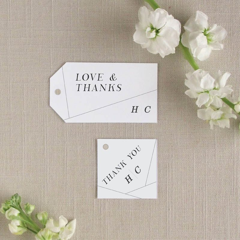 Off the Grid Geometric Favor Tags