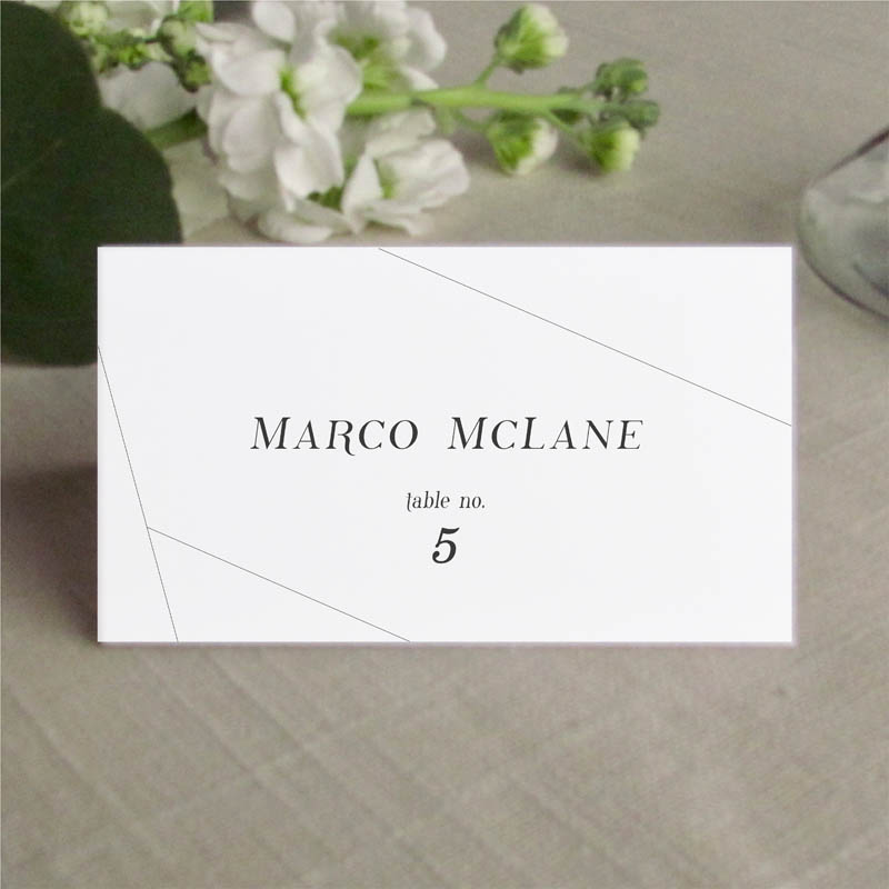 geometric off the grid place card