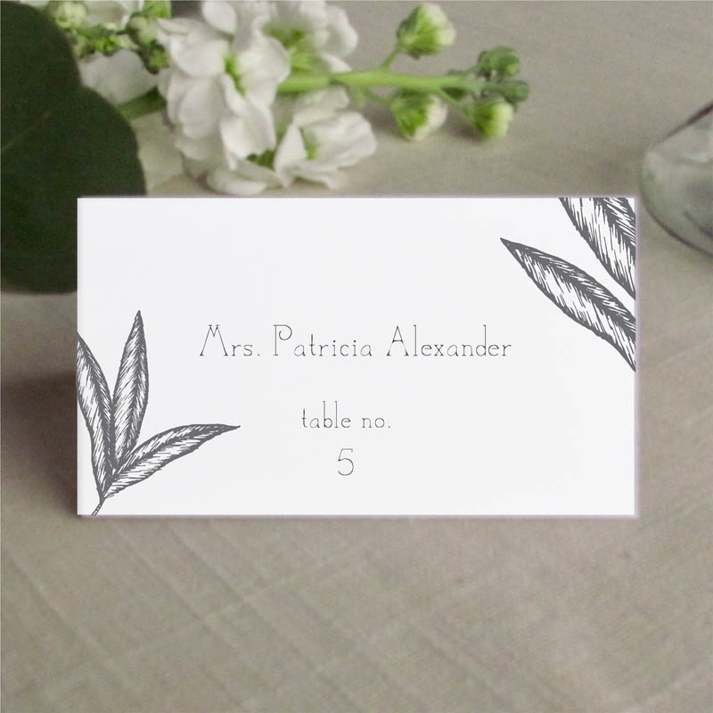 Palm Place Card