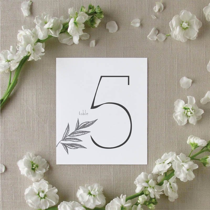 Palm Leaves Table Number