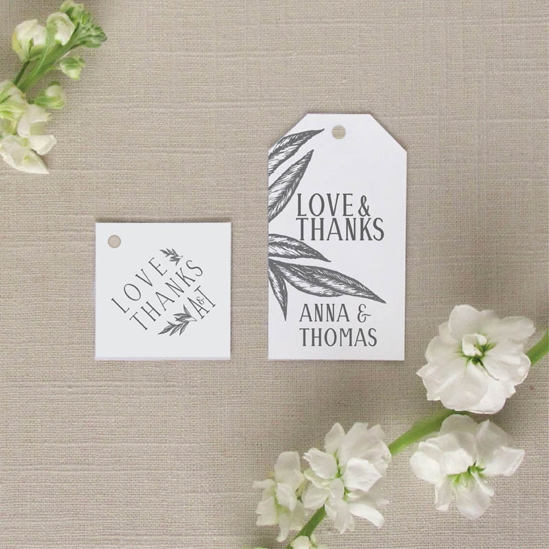 Palm Leaves Wedding Favor Tags
