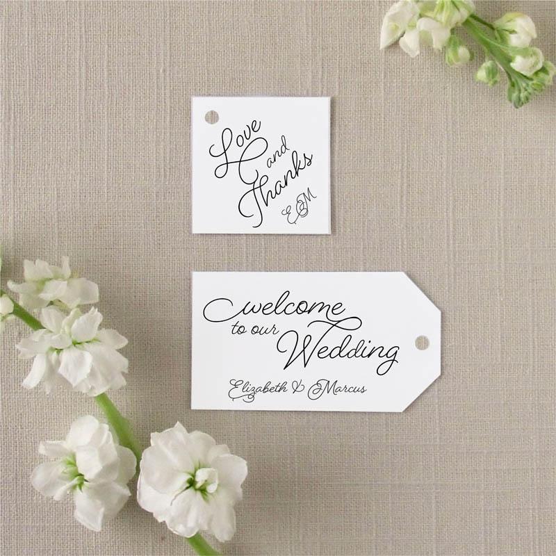 sweet pea favor tags wedding