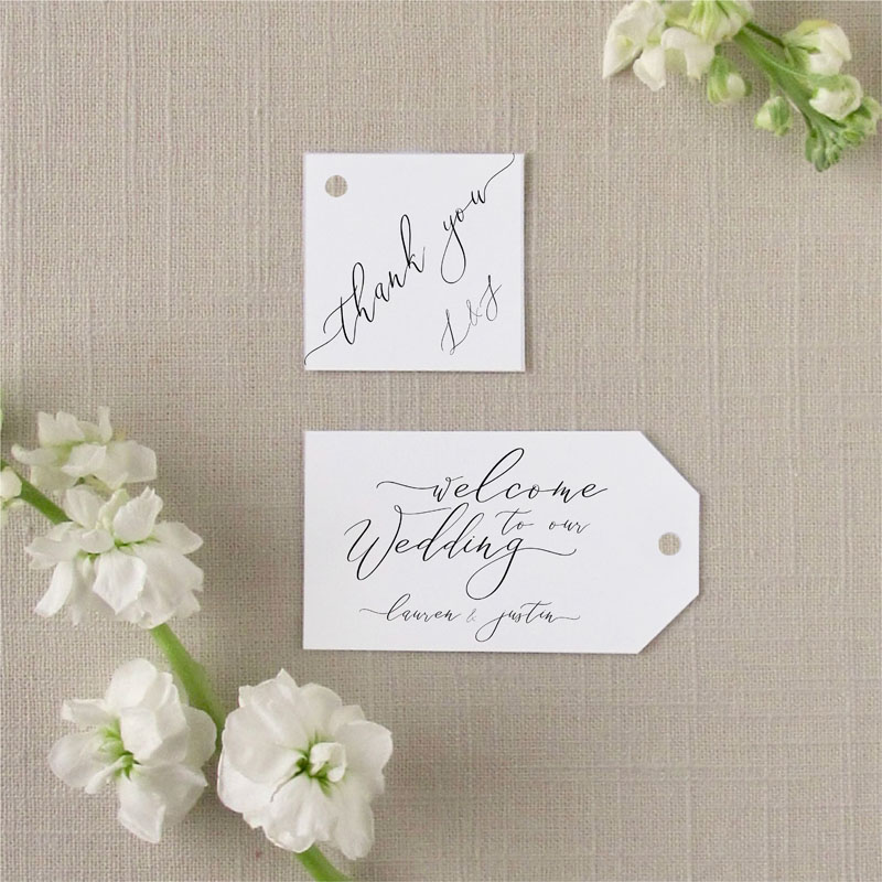 Cali Wedding Favor Tags